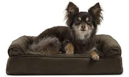 Furhaven - Plush Orthopedic L-Shaped Chaise Lounger & Traditional Sofa-Style Dog Bed