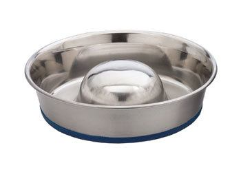 OurPets DuraPet Slow Feed Premium Stainless Steel Dog Bowl for Shih Tzu