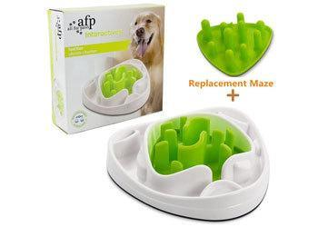 ALL FOR PAWS Interactive Food Maze Fun Slow Feeder Dog Bowl